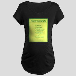 Transfer Day Checklist Maternity Dark T-Shirt