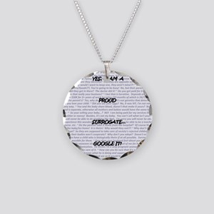 Yes, I am a surrogate... Necklace Circle Charm