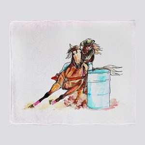 Barrel Racer Throw Blanket