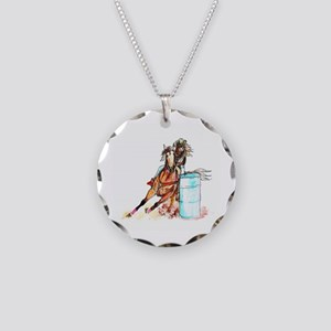 Barrel Racer Necklace Circle Charm