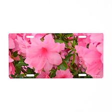 Pink Flowering Azalea Aluminum License Plate