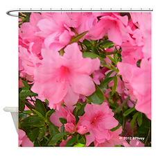 Pink Flowering Azalea Shower Curtain