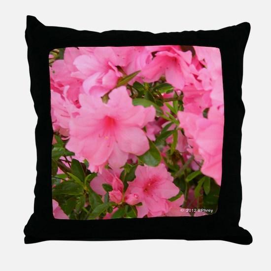 Pink Flowering Azalea Throw Pillow