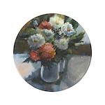 "Flowers (#2) by Elsie Batzell 3.5"" Button (10"