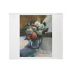 Flowers (#2) by Elsie Batzell Throw Blanket