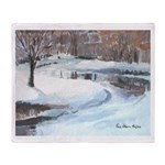 Snowy Road by Elsie Batzell Throw Blanket