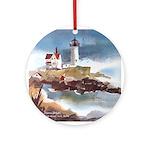 Nubble Light House Ornament (Round)