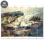Trellis Bridge by Elsie Batze Puzzle