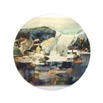 """Trellis Bridge by Elsie Batze 3.5"""" Button"""