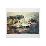 Trellis Bridge by Elsie Batze Throw Blanket