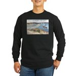 Cape Porpoise Long Sleeve Dark T-Shirt
