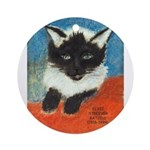 Siamese Kitten by Elsie Ornament (Round)