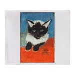 Siamese Kitten by Elsie Throw Blanket