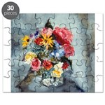 Yellow Daisies & Roses Puzzle