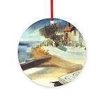 Rowboat by Elsie Batzell Ornament (Round)
