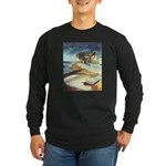 Rowboat by Elsie Batzell Long Sleeve Dark T-Shirt