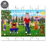 Frustrated golfers cartoon Puzzle