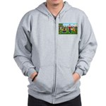 Frustrated golfers cartoon Zip Hoodie