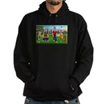 Frustrated golfers cartoon Hoodie (dark)
