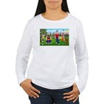 Frustrated golfers cartoon Women's Long Sleeve T-S