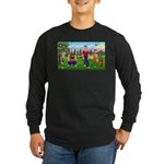 Frustrated golfers cartoon Long Sleeve Dark T-Shir