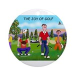 Joy of Golf 1 Ornament (Round)