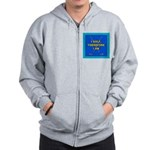 I golf, therefore I am Zip Hoodie