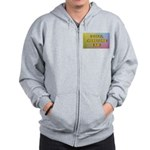 I golf, therefore I am (pink) Zip Hoodie