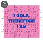 I golf, therefore I am (pink) Puzzle