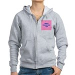 I golf, therefore I am (pink) Women's Zip Hoodie