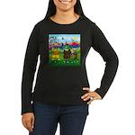 Golfing frogs Women's Long Sleeve Dark T-Shirt