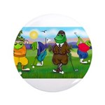 """Golfing frogs 3.5"""" Button (100 pack)"""