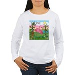 Golfing Flamingo Women's Long Sleeve T-Shirt