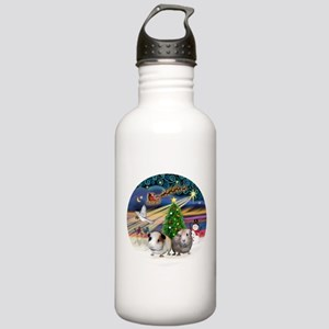 XmasMagic-2 Guinea Pigs Stainless Water Bottle 1.0