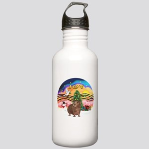 XmasMusic#2-GuineaPig#3 Stainless Water Bottle 1.0