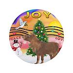 "XmasMusic2-Shetland Pony 3.5"" Button (100 pac"
