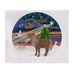 XmasMagic/Shetland Pony Throw Blanket