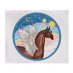 Clouds/Horse (Ar-Br) Throw Blanket