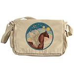 Clouds/Horse (Ar-Br) Messenger Bag