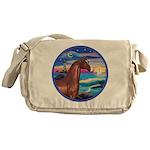 Wave/Horse( Ar-Brn) Messenger Bag