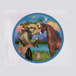 St Francis/Horse (Ar-Br) Throw Blanket