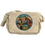 St Francis/Horse (Ar-Br) Messenger Bag