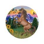 """Mt Country/Horse (Ar-Br) 3.5"""" Button (100 pac"""