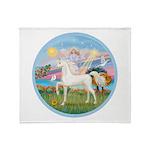 Angel/Horse (Ar-W) Throw Blanket