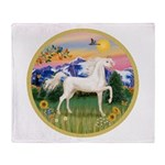 Mt Country/Horse (Ar-W) Throw Blanket