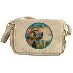 St Francis/Horse (Ar-W) Messenger Bag
