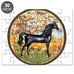 Spring/Arabian horse (blk) Puzzle