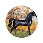 "Spring/Arabian horse (blk) 3.5"" Button (100 p"
