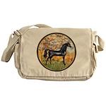Spring/Arabian horse (blk) Messenger Bag