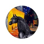 "Cafe/Arabian horse (blk) 3.5"" Button (100 pac"